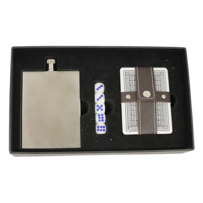 Image of Slimline Hip Flask Poker Set